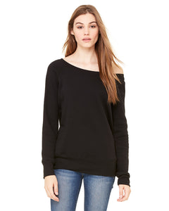 Ladies' Sponge Fleece Wide Neck Sweatshirt - Bella + Canvas