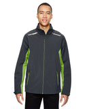 North End Men's Excursion Soft Shell Jacket with Laser Stitch Accents
