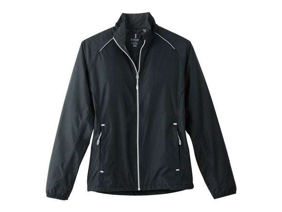 Black waterproof sports team jacket