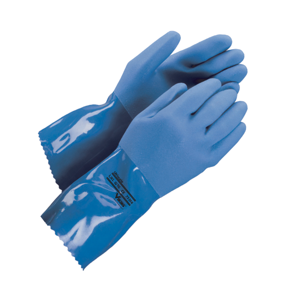 Blue PVC Work Gloves