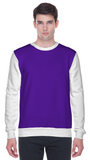 Colour block sweatshirt in purple and white