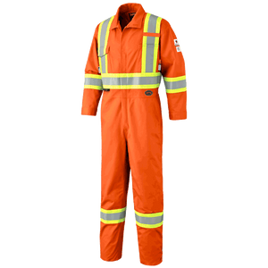 FR-TECH® FR/ARC RATED 7 OZ HV SFTY COVERALLS - 88/12 CTN/NYLON