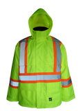 High visibility green insulated jacket