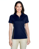 Ladies colour block polo navy