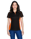 Ladies colour block polo orange