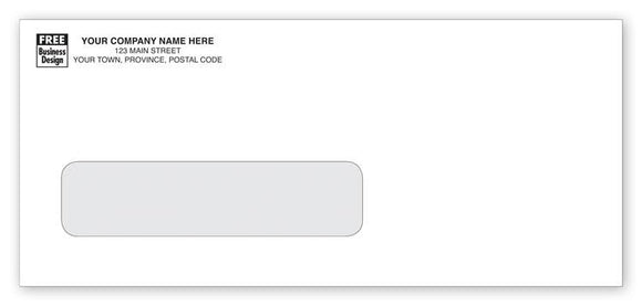 No. 9 Single Window Confidential Envelope Black Logo