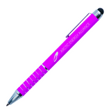 Pink metal pen with stylus