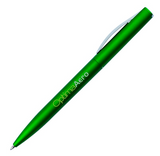 Plastic Green Pen with Logo