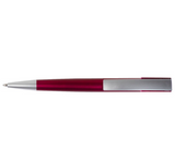 Red plastic pen top view