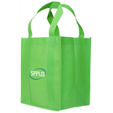 Large Green non-woven shopping bag with logo