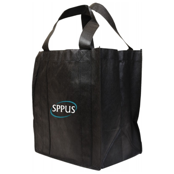 Large Black non-woven shopping bag with logo