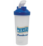 Blender shaker bottle blue lid
