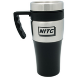 Silver accent thermal mug - 14 oz 0635