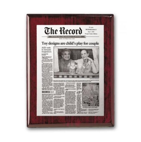 Metal Photo Plaque - Rosewood 5007