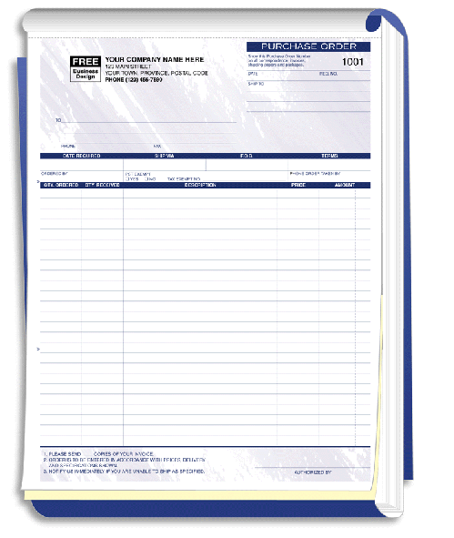 Purchase Order Form Books 87