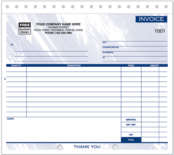 Compact Lined General Invoices (108)