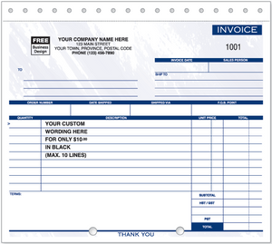Compact Lined Invoices (105)