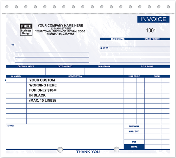 Compact Lined Invoices 105