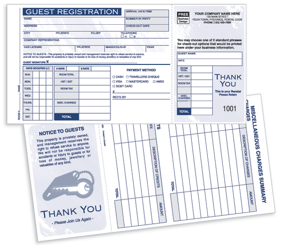 Guest Registration Cards 520