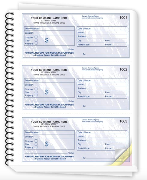 Non-Profit / Charitable Donation Receipt Books 694