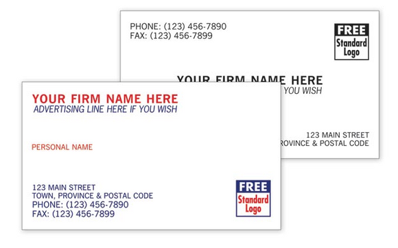 Discount Business Cards - Basic CC1000