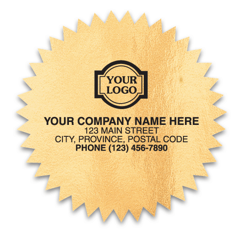 Gold Foil Starburst Labels CC320
