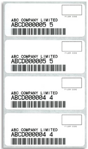 PAPS Bar Code Labels 8084