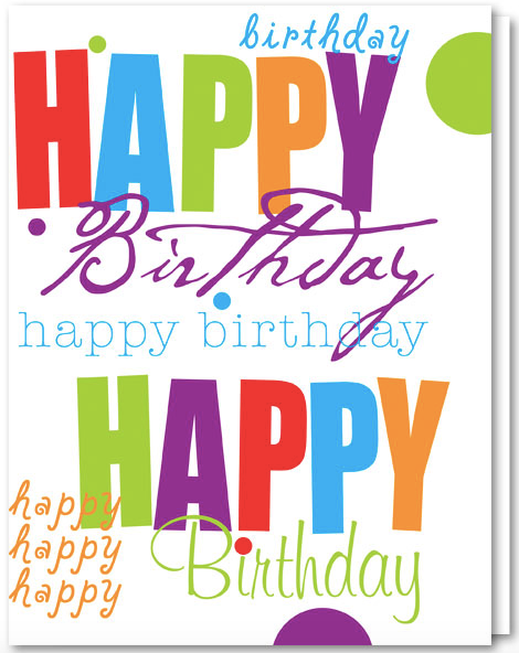 Business Birthday Cards - Happy Birthday ED929