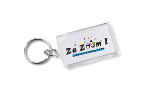 Crystal Acrylic Rectangle Keychain 8161