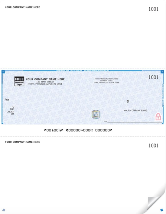 High Security Laser Middle Cheque (WHS9039)