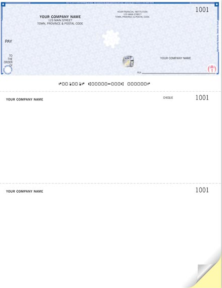 High Security Laser Top Cheque (WHS9085)