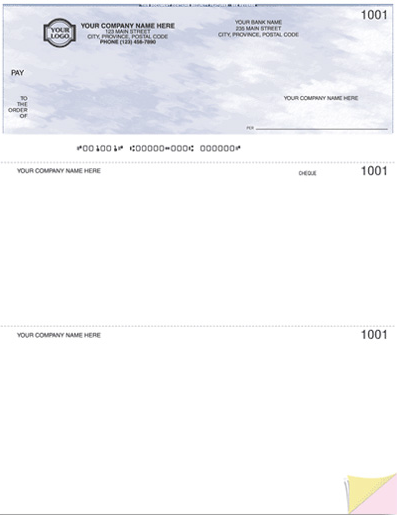 Laser Top Cheque (W9085)