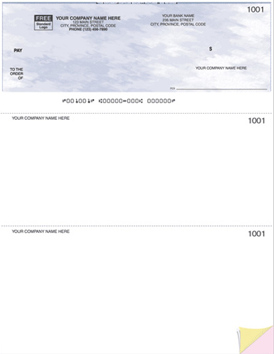Laser Top Cheque (W9209)