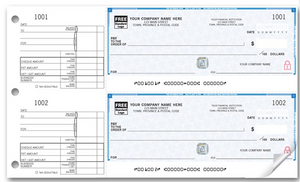 High Security 2-To-A-Page Cheques WHS437