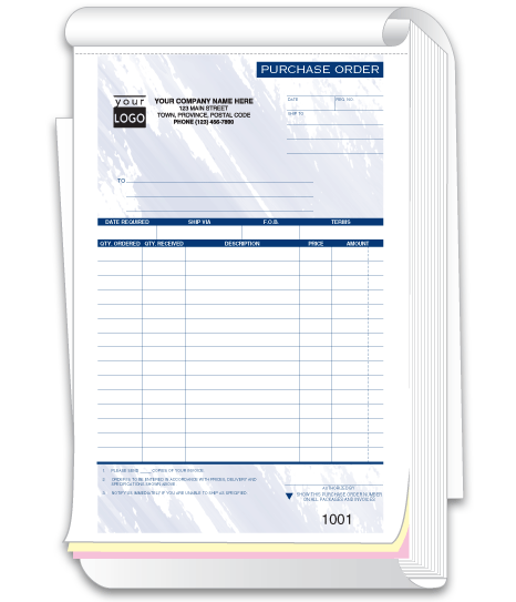 Compact Purchase Order Form Books 88