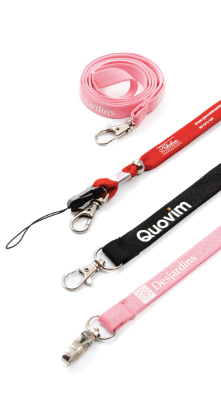Polyester Cross Woven Lanyards