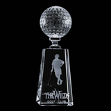Crystal golf tower award