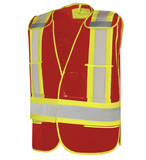 Five Point Tearaway Mesh Traffic Vest, Universal Vest 59LO0500