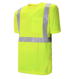 "Short Sleeve Traffic T-Shirt with 2"" Reflective Silver Tape C59127102"