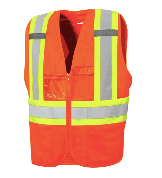 Safety Vest with Zipper & Eight Pockets 57Y4102