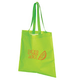 Lime green tote bag with logo
