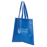 Royal blue tote bag with logo