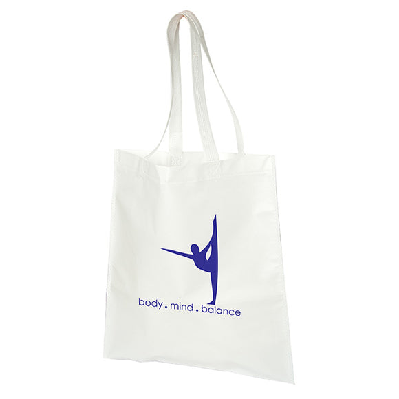 White tote bag with logo