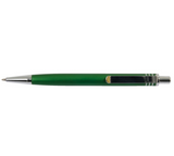 Top view of green aluminum pen
