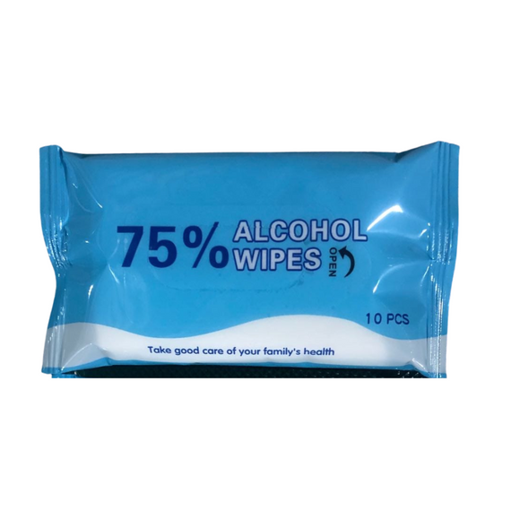 75% Alcohol Sanitizing Wipes - 10 pack