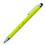 Yellow metal pen with stylus