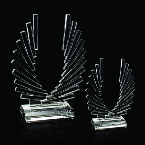 High end Crystal Accolade Award Two sizes