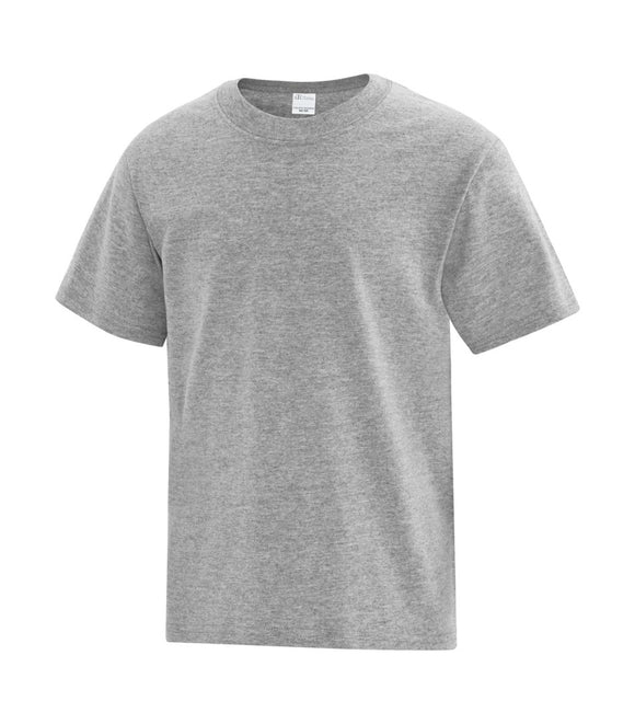 youth heather grey tee