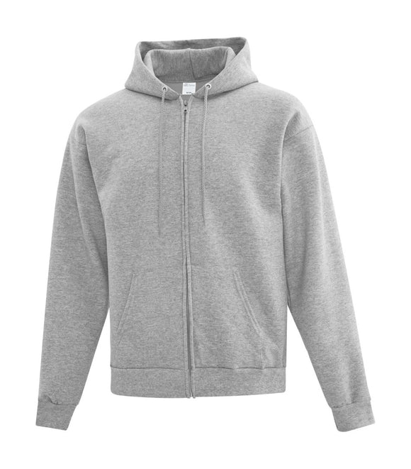 Athletic grey full zip sweatshirt