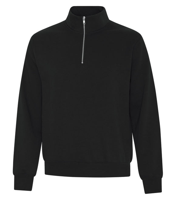 1/4 zip sweatshirt black